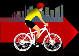Biker's silhouette
