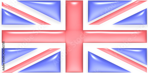 UK flag with gel effect