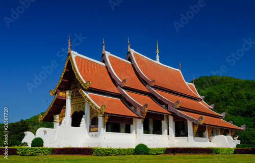 Temple in Mae Fah Luang, University ,Chiangrai, Thailand