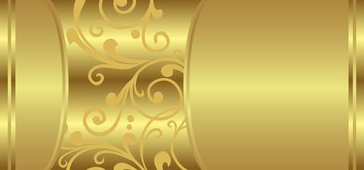 Golden Luxury - Vector Card