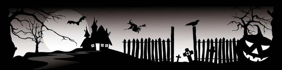 Halloween Panorama - Banner