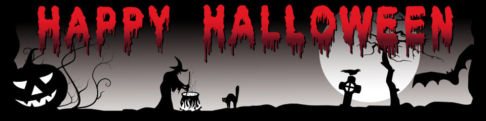 Happy Halloween Panorama - Banner