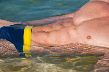 Torso in the water