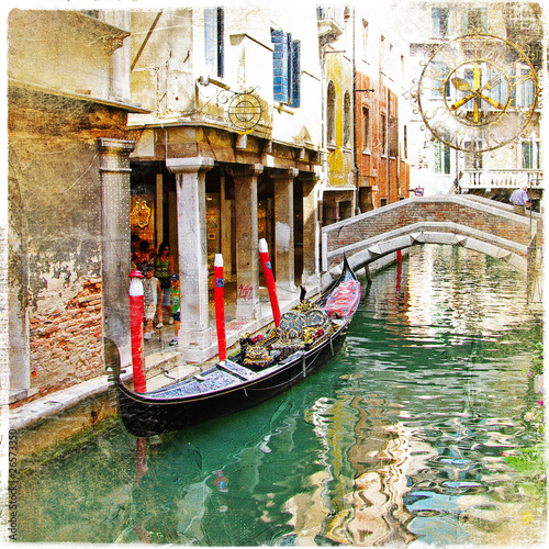 venetian canals- artistic picture - 26573350