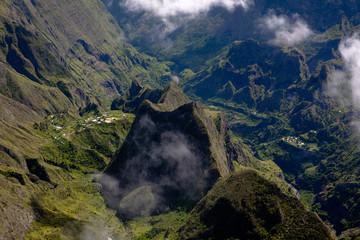 Ilet des orangers à la Réunion dans le cirque de Mafate