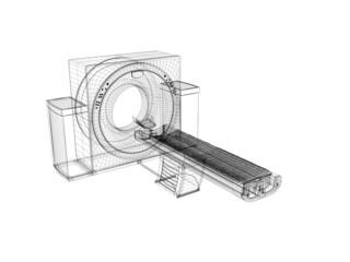 risonanza magnetica tac wireframe