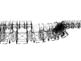 sedie a rotelle illustrazione