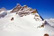 Part of The Swiss Alpine Alps at Jungfraujoch in Switzerland