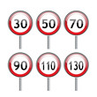 Road sign of speed limit