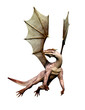 dragon on the sky white background
