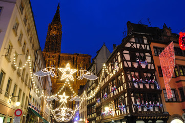 Christmas illuminations in Strasbourg, France