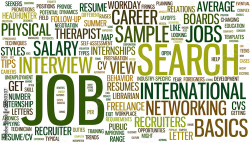 Job search wordcloud