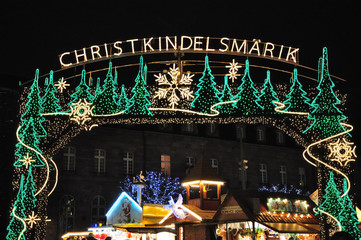 Christmas illuminations in Strasbourg, France