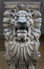 Stone statue of a lion