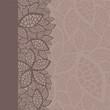 leaf pattern border and background