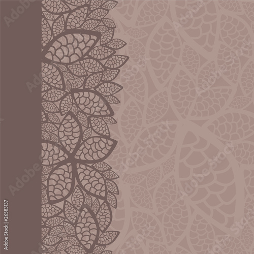 leaf pattern border and background