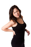 Woman with back injury poster