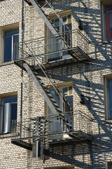 fire escape on old building