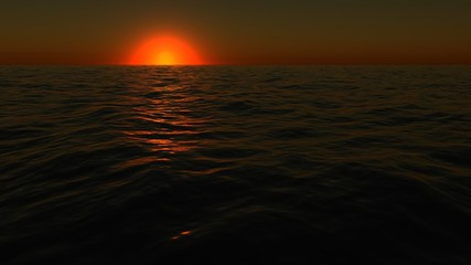 Sunset sea timelapse