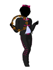 Girl Mariachi Silhouette Illustration