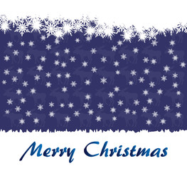 Christmas Wish Card with Snowflakes
