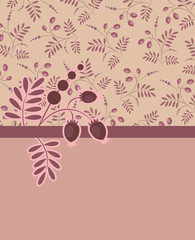 Vector background pattern with berries