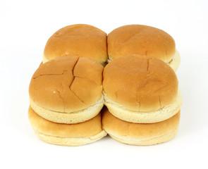 Group of hamburger buns