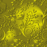 Seamless background with gold leaves