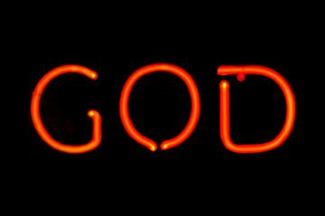 God neon sign