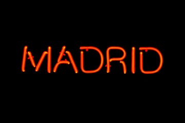 Madrid neon sign