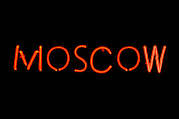 Moscow neon sign