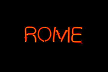 Rome neon sign
