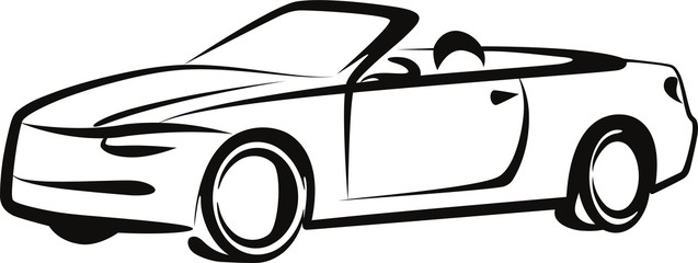 Simple illustration with a car