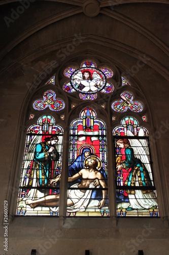 Poster Paris01-Église-Saint-Germain-l'Auxerrois:Vitrail