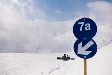 Schipiste in den Alpen