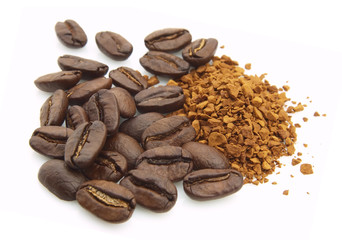 Coffee grain and soluble