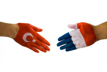 Turkey France handshake