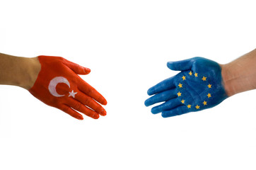 Turkey Europe handshake