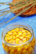 Preserved sweetcorn in jar