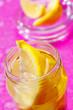 Lemon wedges in jar