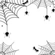 Spiders,their webs and bats-Halloween concept - 26608958