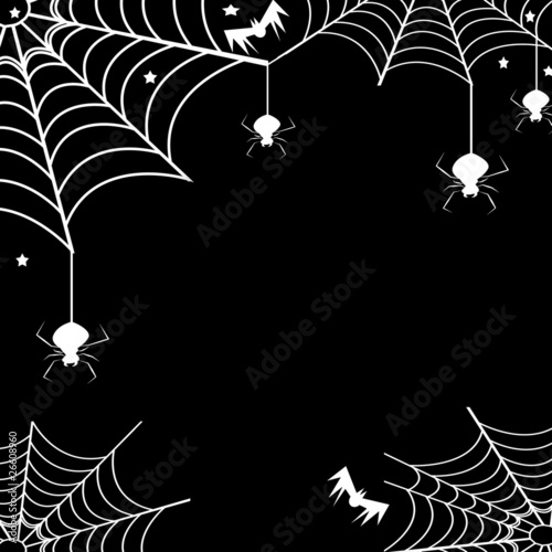Scary spiders,their webs and bats