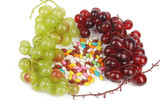 Candies with grapes