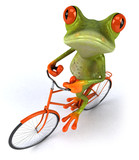 Fototapety Grenouille et vélo