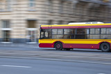 Fototapety speed bus