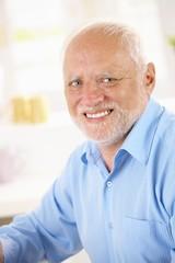 Portrait of happy senior man