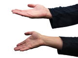Spare hands - begging and presenting
