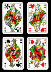 Playing cards - queens
