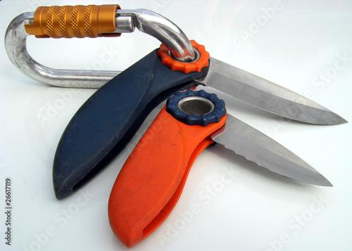 couteaux d'escalade varappe spéléo