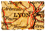 Lyon old map